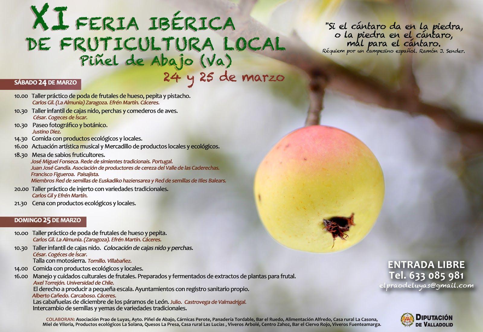 XI feria ibérica de fruticultura local